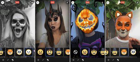 O nha luot Facebook, choi Halloween voi tinh nang Masks - Anh 1