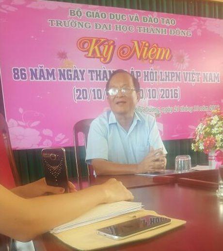 Hai Duong : Sinh vien to Truong Dai hoc Thanh Dong 'cho hoc mot dang, thuc tap mot neo' - Anh 2
