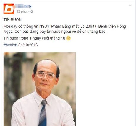 Nguoi ham mo khoc thuong truoc thong tin nghe si Pham Bang qua doi - Anh 1