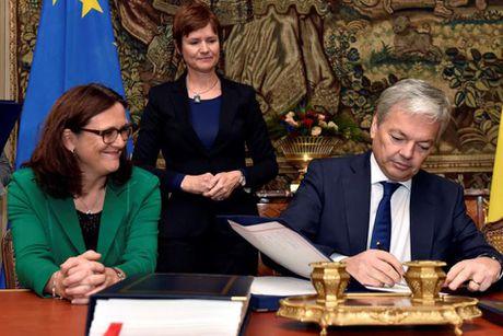 Thoa thuan thuong mai My, EU chua 'chet' hau ky ket CETA - Anh 1