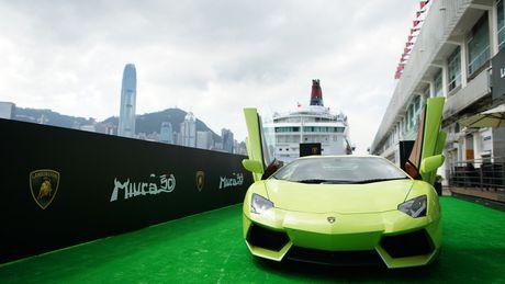 Ngam Lamborghini Aventador mau ran xanh cuc 'doc' - Anh 1