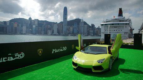 Ngam Lamborghini Aventador mau ran xanh cuc 'doc' - Anh 3