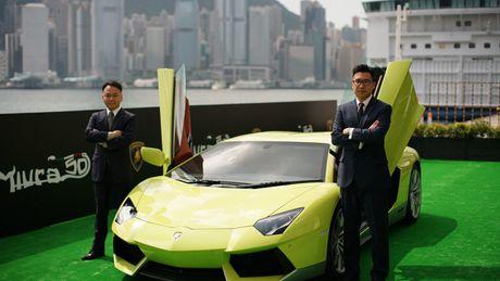 Ngam Lamborghini Aventador mau ran xanh cuc 'doc' - Anh 4