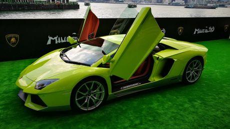 Ngam Lamborghini Aventador mau ran xanh cuc 'doc' - Anh 6