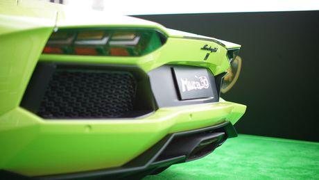 Ngam Lamborghini Aventador mau ran xanh cuc 'doc' - Anh 7