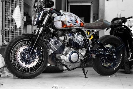 'Xe no' Yamaha XV750 do cafe racer cuc doc tai Sai Gon - Anh 1