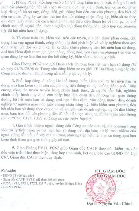 Giam doc CATP chi dao xu ly phuong tien het nien han su dung va qua han kiem dinh - Anh 1