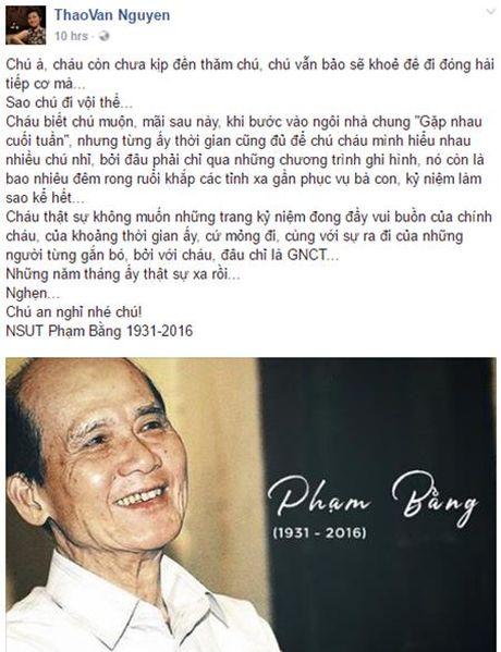Nghe si Viet bang hoang truoc su ra di cua NSUT Pham Bang - Anh 6