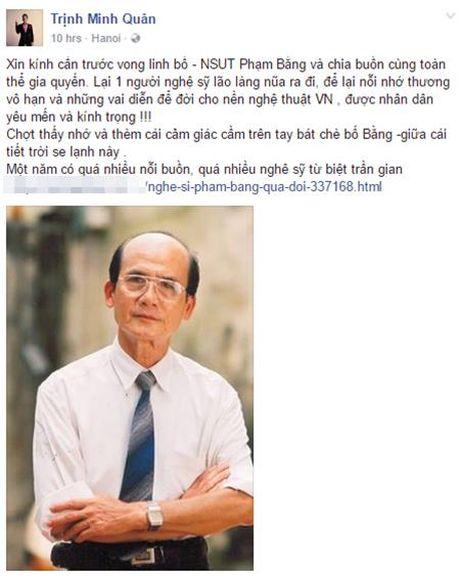 Nghe si Viet bang hoang truoc su ra di cua NSUT Pham Bang - Anh 7