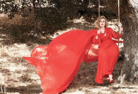 Adele khoe ve man ma tren tap chi Vanity Fair - Anh 1