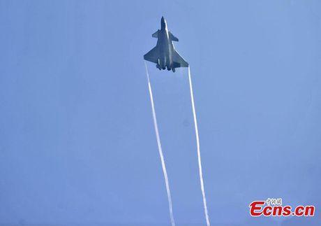 Trung Quoc trinh lang may bay tang hinh J-20 - Anh 3