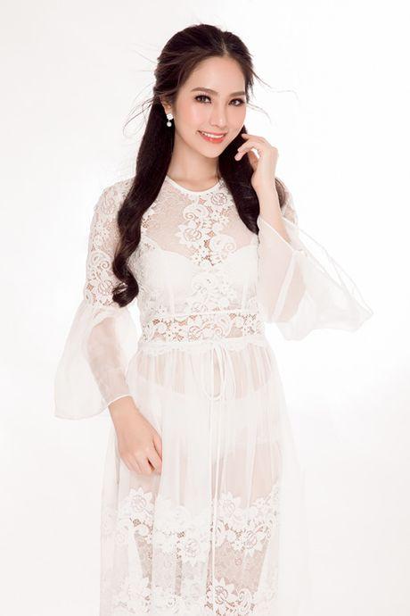 Hoa hau Ao dai Bien Duong Kim Anh dep hut hon voi vay trang tinh khiet - Anh 3