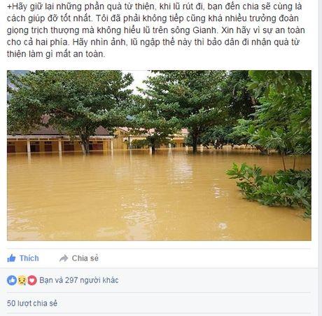 Nhieu facebooker canh bao an toan cho cac doan cuu tro lu mien Trung - Anh 1