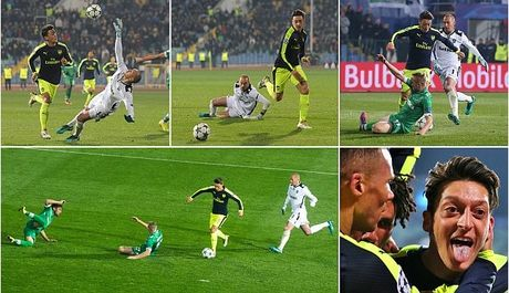 Ozil solo, ghi ban kinh dien vao luoi Ludogorets - Anh 1