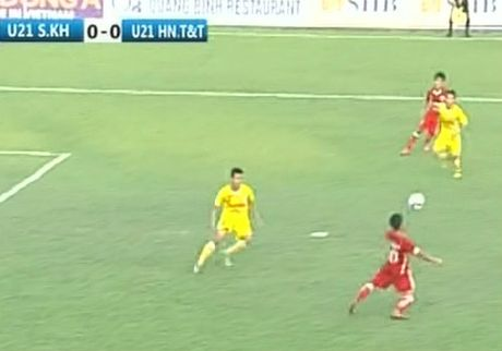 U21 HN T&T - U21 S.Khanh Hoa: Hiep 2 bung no - Anh 1