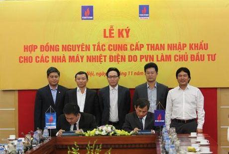 PVN: Ky hop dong nguyen tac cung cap than nhap khau cho dien - Anh 1
