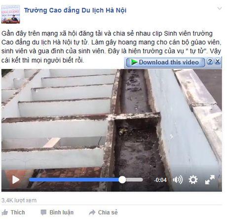 Truong Cao dang Du lich Ha Noi len tieng ve clip nu sinh nhay tu tang thuong - Anh 3
