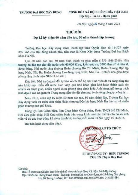 Truong Dai hoc Xay dung ky niem 60 nam dao tao, 50 nam thanh lap - Anh 2