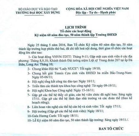 Truong Dai hoc Xay dung ky niem 60 nam dao tao, 50 nam thanh lap - Anh 3