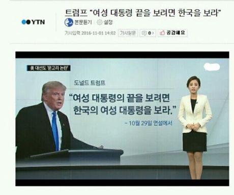 Chi gai Chanyeol (EXO) 'ngoi tren dong lua' vi dua tin sai ve Donald Trump - Anh 3