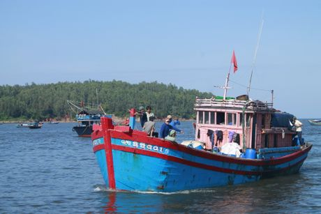 Quang Ngai: 1 tau ca bi chim, 1 ngu dan mat tich - Anh 1
