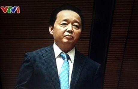 Bo truong Tai nguyen va Moi truong Tran Hong Ha: Moi truong da den nguong khong the chiu them nua - Anh 1