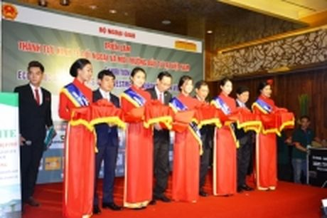 Trien lam 'Thanh tuu kinh te doi ngoai va moi truong dau tu tai Viet Nam' - Anh 1