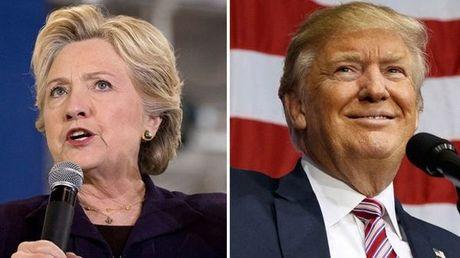 Trump but pha, bat ngo dan truoc Hillary - Anh 1