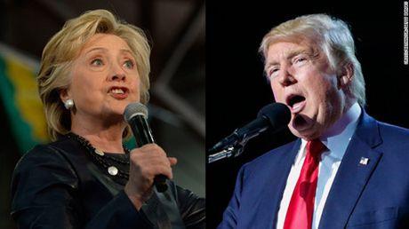 Bau cu My: Ba Clinton van giu duoc khoang cach so voi ong Trump - Anh 1