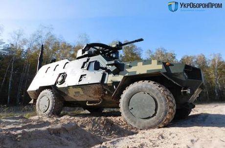 Ukraine khoe tai lap vu khi may bay cho xe chien dau - Anh 1