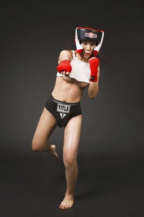 Soi do sexy lan xa cua 'nu hoang boxing' Hoang Yen My - Anh 7