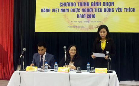 Khoi dong chuong trinh binh chon 'Hang Viet Nam duoc nguoi tieu dung yeu thich' nam 2016 - Anh 1