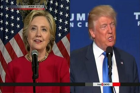 Ong Trump no luc lat nguoc tinh the truoc ba Clinton - Anh 1