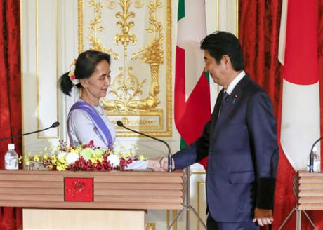 Nhat Ban chi vien quy mo lon cho Myanmar, ba Aung San Suu Kyi thu hoach lon - Anh 1
