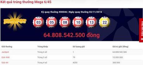 Nguoi trung thuong xo so Mega 6/45 gan 65 ty dong den tu Tp. Ho Chi Minh - Anh 1