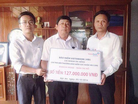 Bao hiem VietinBank boi thuong 127 trieu dong cho khach hang tai Hoi An - Anh 1