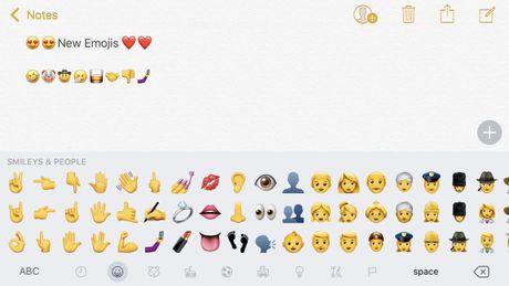 iOS 10.2 bo sung 72 bieu tuong cam xuc moi - Anh 1