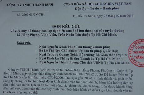 Hang xe Thanh Buoi kien nghi bo lenh cam duong - Anh 1