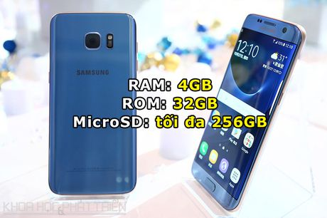 Can canh Galaxy S7 Edge mau xanh coral sap len ke o Viet Nam - Anh 2