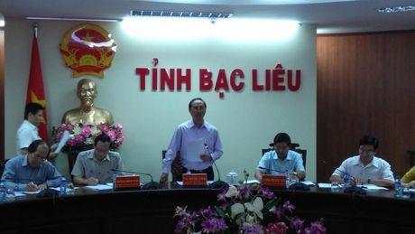 Thu truong Le Dinh Tho va doan cong tac lam viec voi Bac Lieu - Anh 1
