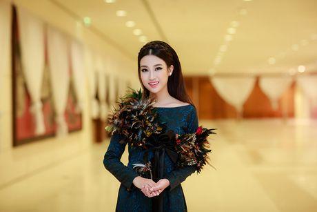 HH Do My Linh dien ao dai 'doc' di xem thoi trang - Anh 6