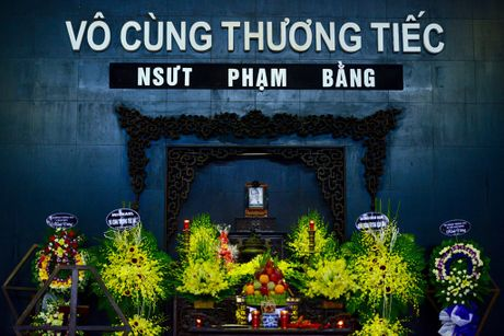 Dien vien Quoc Khanh khoc o dam tang NSUT Pham Bang - Anh 1