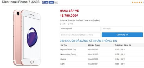 Chinh thuc duoc dat hang iPhone 7 chinh hang - Anh 1