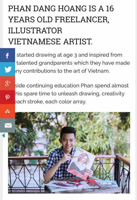 Chang trai 16 tuoi ve tranh truyen than cac nghe si Viet duoc bao My ca ngoi - Anh 3