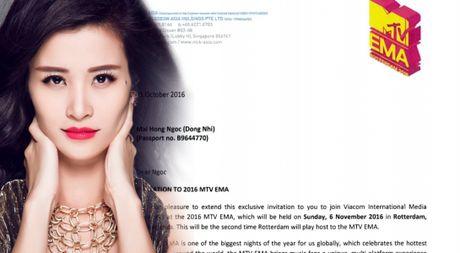 Dong Nhi la 1 trong 3 ca si chau A duoc moi tham du MTV EMA tai Ha Lan - Anh 1