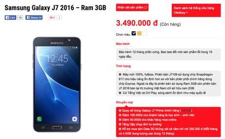 Galaxy J7 2016 xach tay full-HD, RAM 3GB, 3,5 trieu - Anh 3