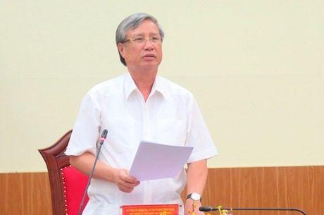 Chu nhiem Uy ban Kiem tra Trung uong noi ve viec ky luat cuu Bo truong Vu Huy Hoang - Anh 1
