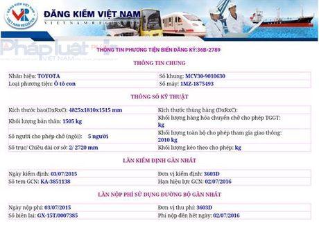 Bi thu Thanh uy TP Thanh Hoa muon xe bien xanh, het han dang kiem 4 thang - Anh 2
