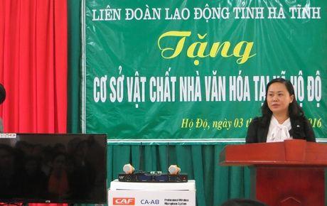 LDLD tinh Ha Tinh tang co so vat chat cho nha van hoa thon - Anh 3