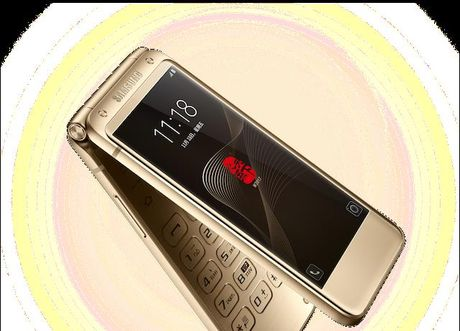 W2017, dien thoai nap gap chay Android cua Samsung, gia sieu dat - Anh 2